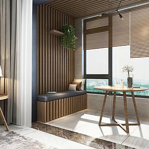 北欧风格-阳台-装修效果图