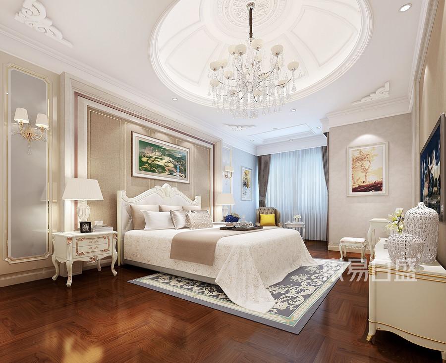 岭湖墅欧式古典风格卧室装修案例效果图