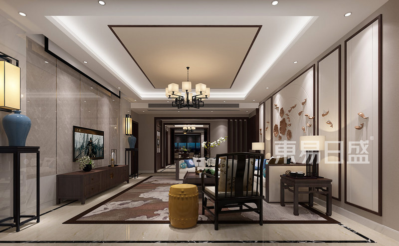 新中式客厅图装修效果图