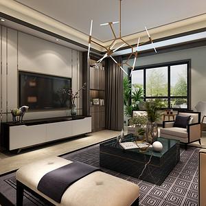 现代前卫风格装修效果图——客厅