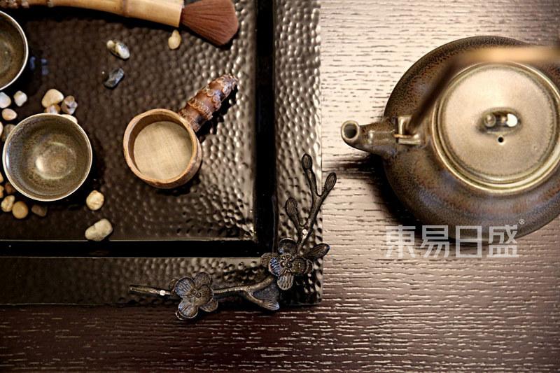 新中式客厅茶具软装效果图