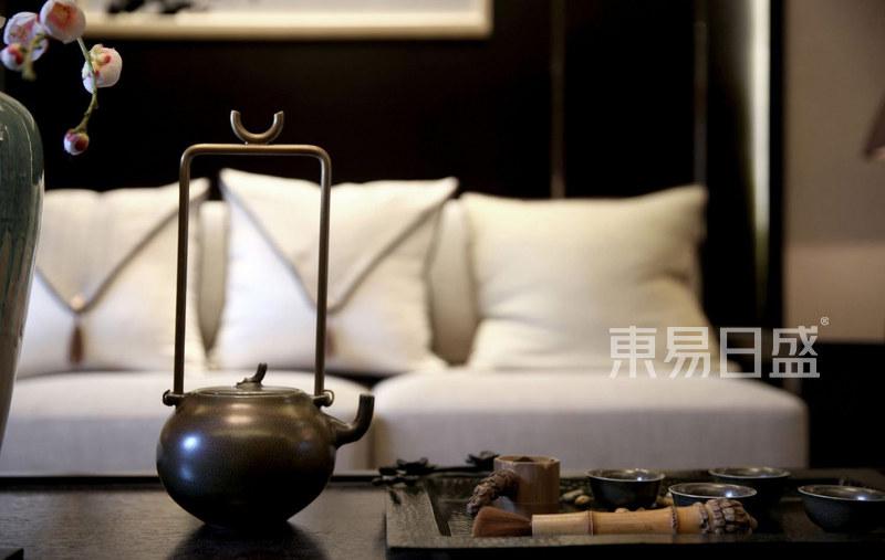 新中式客厅软装效果图