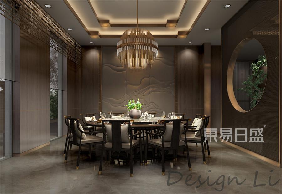 上海合生东郊别墅1055平米现代中式装修效果图