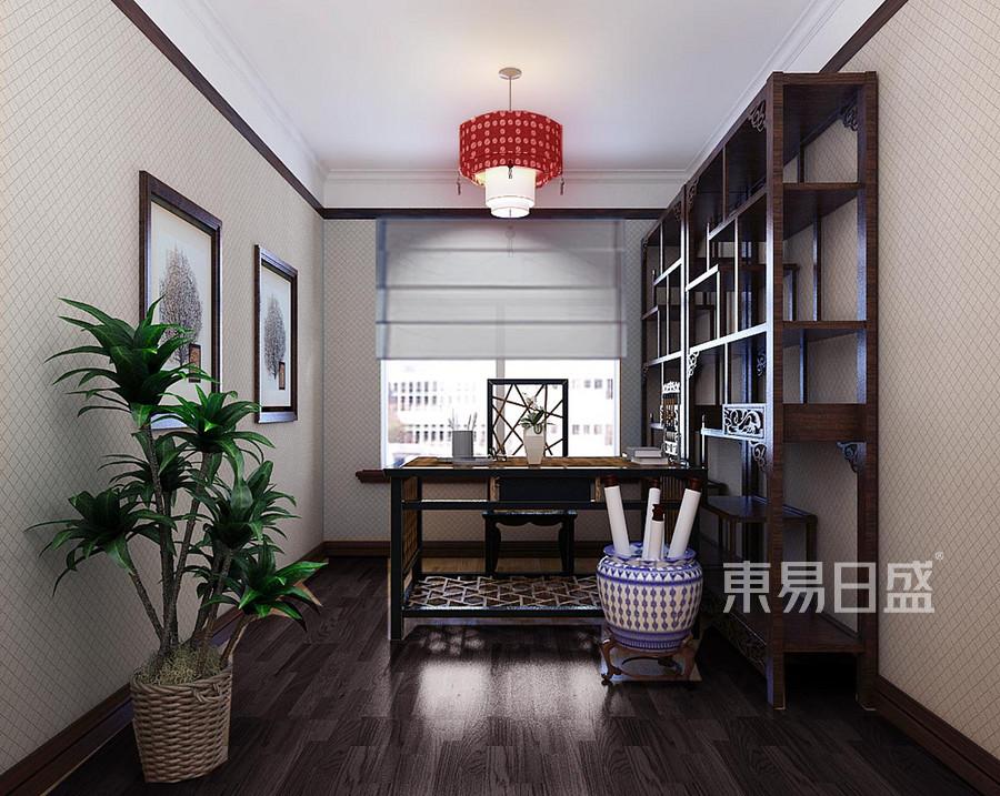 天通北苑 简约中式 书房装饰