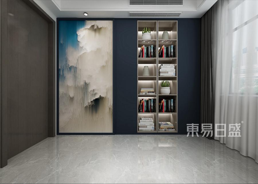 新中式风格书房装修效果