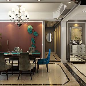 都市新奢华风格-餐厅-装修效果图