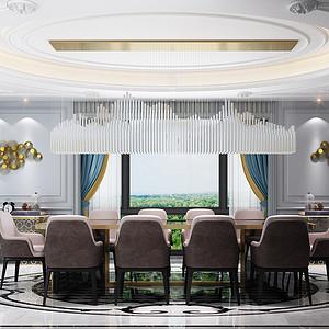 新古典宴会厅装修效果图