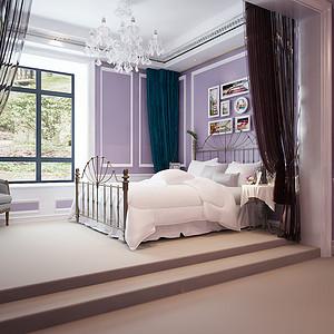 女孩房别出心裁的选用了紫色,静谧优雅
