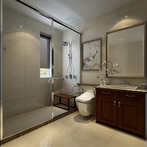 为凸显功能性兼顾装饰美观,充分利用使用空间采用墙排马桶合理分配布局,再加以暖色调的烘托营造舒适的氛围