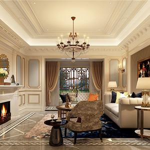 法式风格客厅:壁炉使客厅空间更加饱满