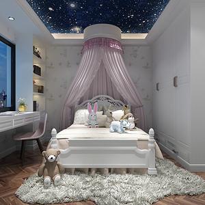 万科魅力一期 简美风格 卧室