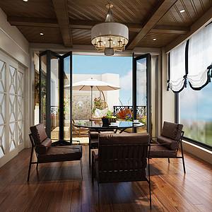 275㎡大平层法式风格茶室效果图
