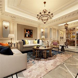 法式风格客厅:重视雕工线条明快的特色