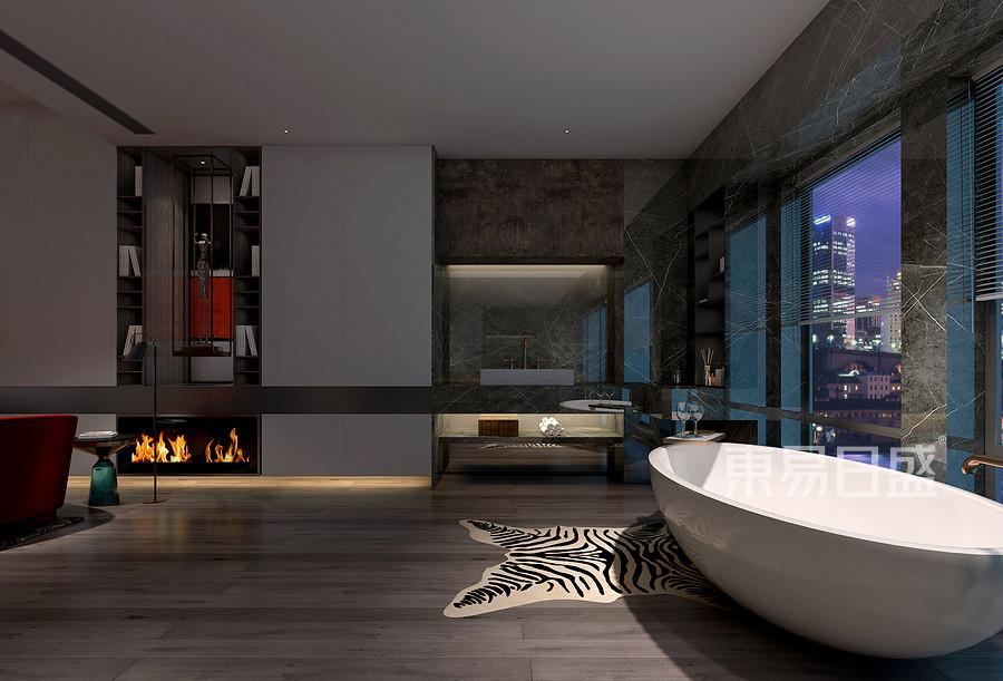 香山美墅-普通住宅-洗手间-效果图