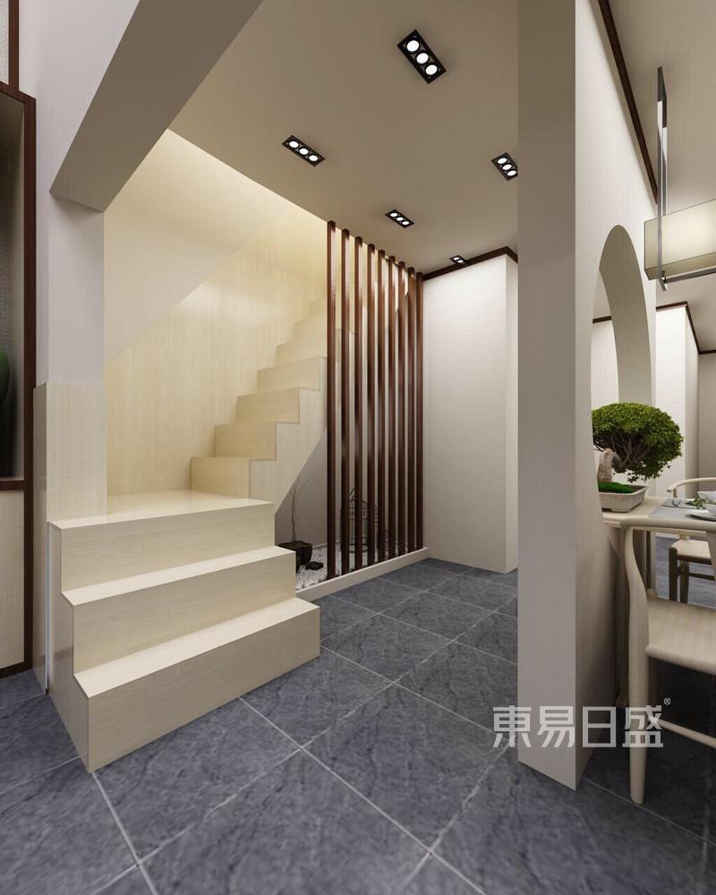新中式 - 碧湖苑新中式风格楼梯间装修效果图