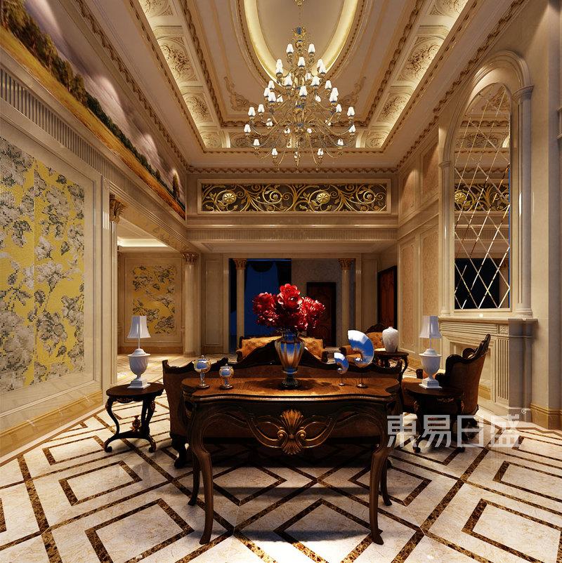 室内f复古装潢-下欧式古典风格装修效果图效果图 装修效果图大全2018图片