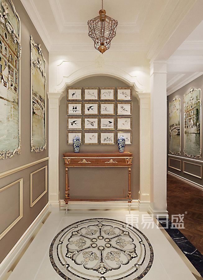 门厅:入户门厅墙面罗马柱以及墙面艺术效果图_2019-.