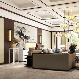 阳光国际 新中式 客厅