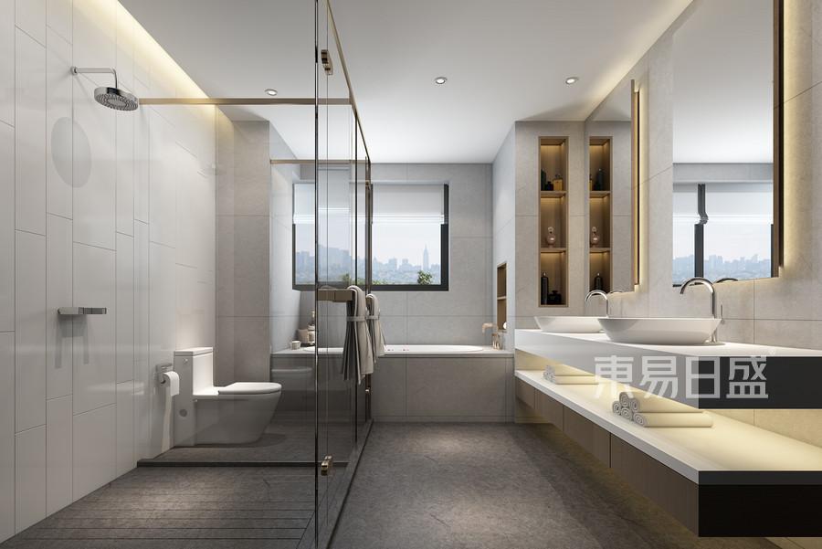 佛山中国铁建国际公馆现代风格卫生间装修效果图