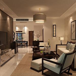 曲江观邸 新中式风格 三室两厅 150平米