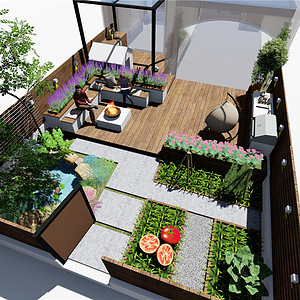 21世纪假日花园庭院现代风装修
