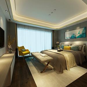 港式轻奢风格卧室装修设计