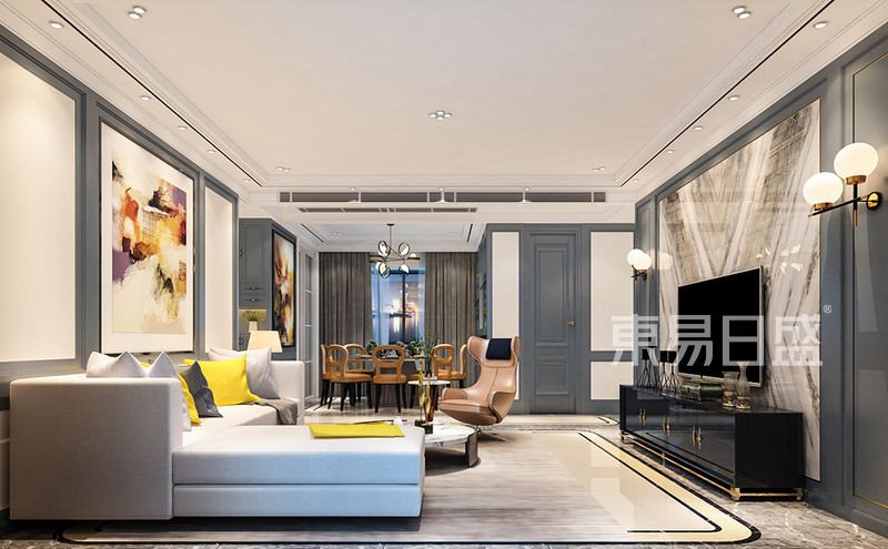 现代简约 - 黄江湖山大境现代轻奢客厅装修效果图