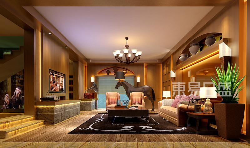 起居室欧式古典装修效果图