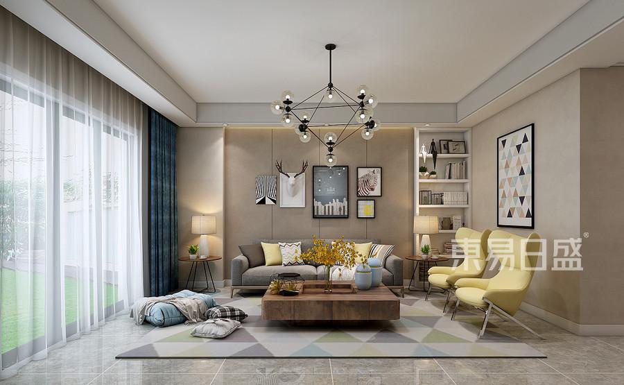 信旺华府骏苑128平米雅致主义风格客厅装修效果图
