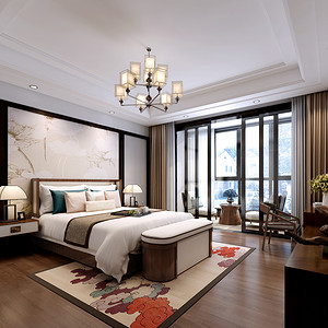 阳光国际 新中式 卧室