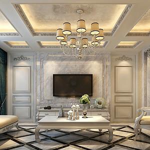 新古典主义风格-客厅-装修效果图