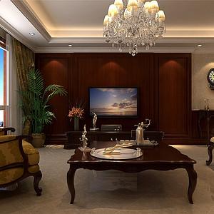 海逸王座新古典风格客厅装修效果图
