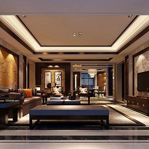 龙湖北辰天街170㎡平层新中式风格