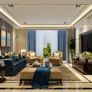 城南一号200㎡住宅现代风格装修效果图