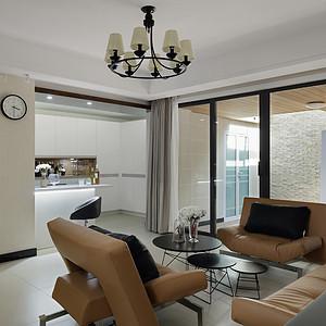 扬州装修 210平别墅现代简约风格