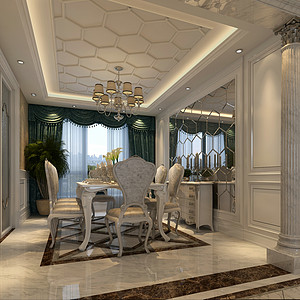 新古典主义风格-餐厅-装修效果图