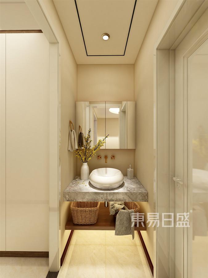 143平米宸公馆新中式风格盥洗室装修效果图