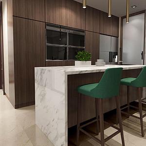 150㎡三居现代简约厨房吧台