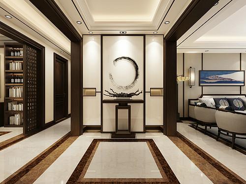 怡佳·天一城新中式172平米装修效果图