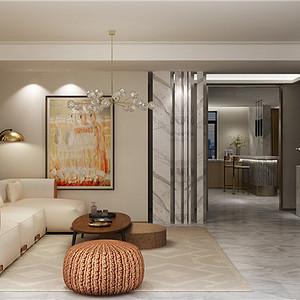 现代轻奢客厅:显得空间更加有层次感