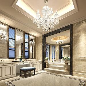 3500㎡法式新古典风格主卧洗手间