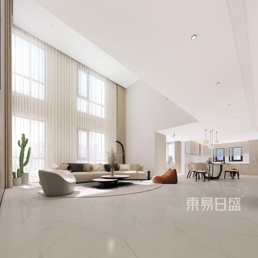 极简风格客厅装修设计效果图_2019装修案例图片-装饰