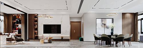 深业中城-200平米-现代轻奢装修设计案例