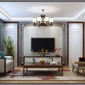 中式风格-客厅-装修效果图
