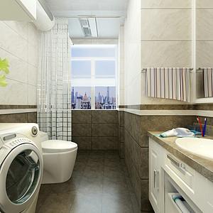 美式风格-卫生间-装修效果图