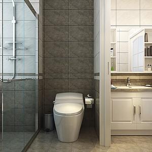 中式风格-卫生间-装修效果图