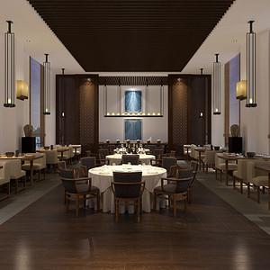 新中式-餐厅-装修效果图