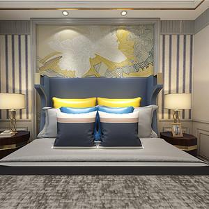 美式风格卧室效果图