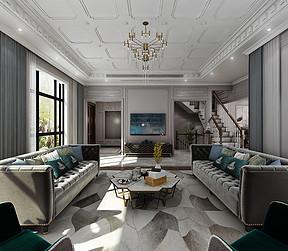 大连法式装修-客厅