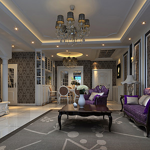 古典欧式客厅效果图